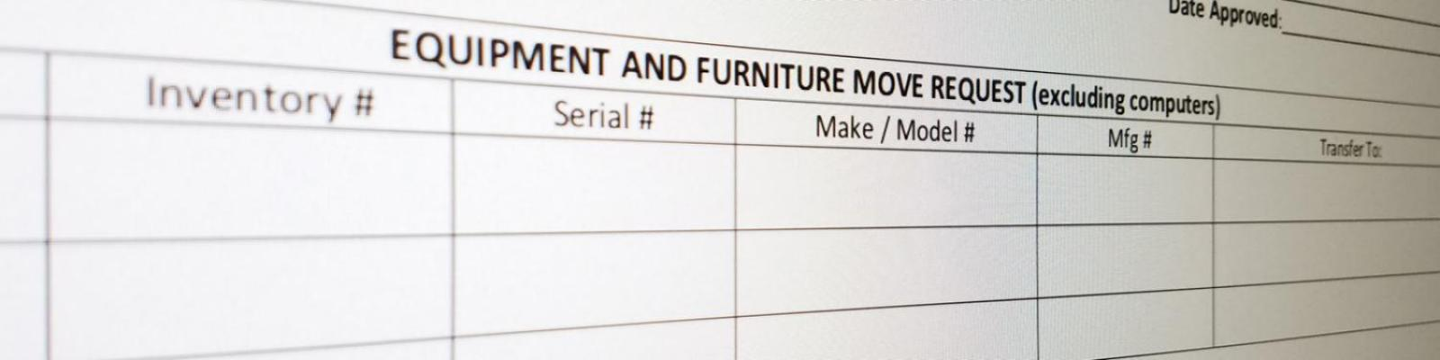 equipment and furniture move request form